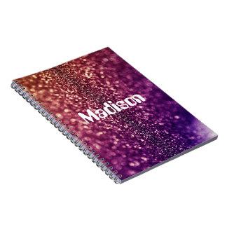 Personalizado púrpura de MADISON nombrado cuaderno