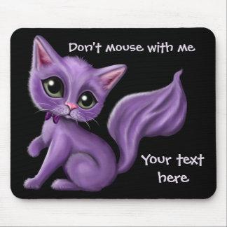 Personalizado púrpura Mousepad del gatito