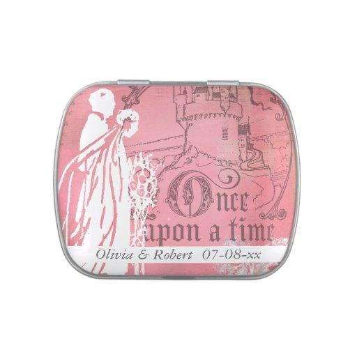Personalizado que casa érase una vez la lata del c jarrones de caramelos