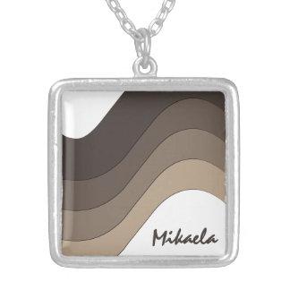 Personalizado rayado de color topo de la onda colgante cuadrado
