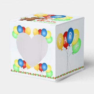 Personalizado real de la fiesta de cumpleaños del cajas para regalos