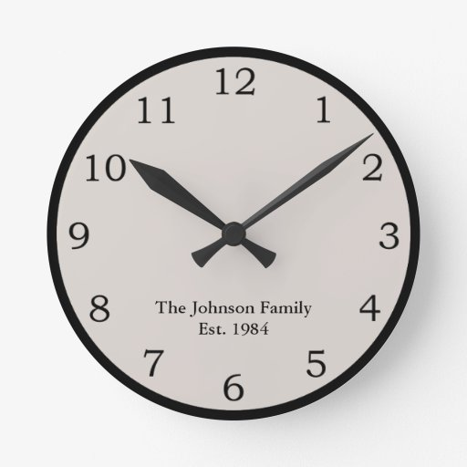 Personalizado Reloj Redondo Mediano