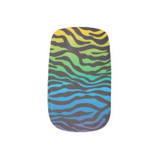 Personalizado retro del estampado de zebra del stickers para manicura
