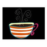 Personalizado retro del té de la taza de café postales