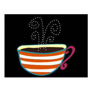 Personalizado retro del té de la taza de café tarjeta postal