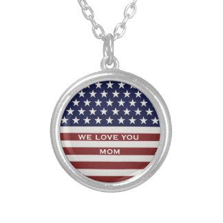 Personalizado rojo de la bandera americana, blanco colgante redondo
