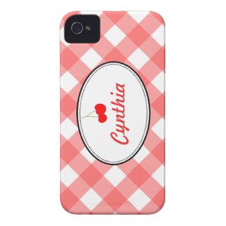 Personalizado rojo de la cereza dulce del modelo Case-Mate iPhone 4 funda