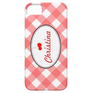 Personalizado rojo de la cereza dulce del modelo iPhone 5 funda