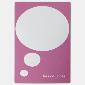 Personalizado rosa claro personalizado redondeado  post-it nota