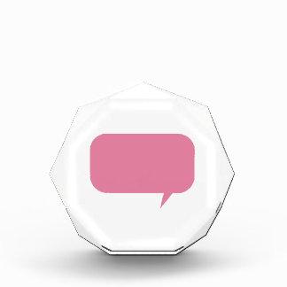 Personalizado rosado de la burbuja del discurso qu