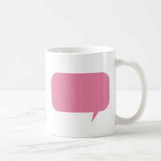 Personalizado rosado de la burbuja del discurso taza clásica