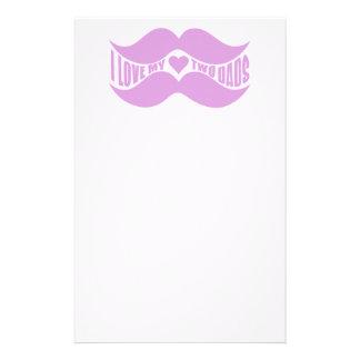 Personalizado rosado de los bigotes inmóvil papeleria