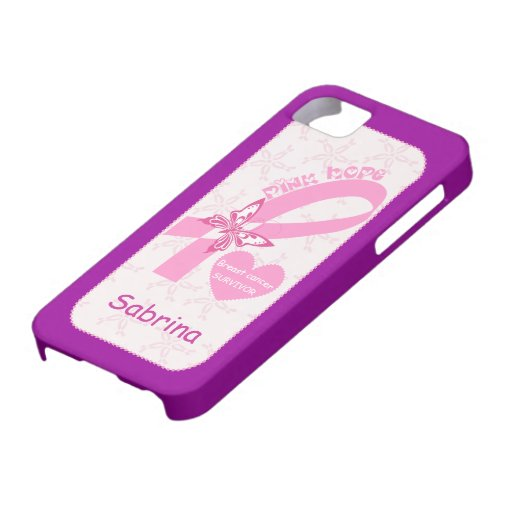 Personalizado rosado del superviviente del cáncer funda para iPhone SE/5/5s