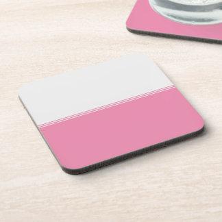 Personalizado rosado dulce de las rayas modernas posavasos