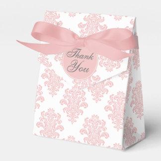 Personalizado rosado femenino del damasco cajas para regalos
