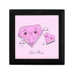 Personalizado rosado Giftbox de los diamantes Cajas De Joyas