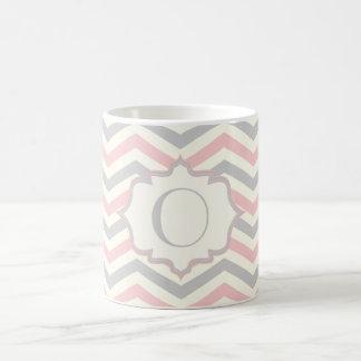 Personalizado rosado, gris, de marfil moderno del  tazas de café