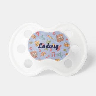 Personalizado rosado personalizado del pacificador chupetes para bebes
