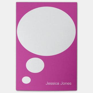Personalizado rosado personalizado redondeado burb notas post-it