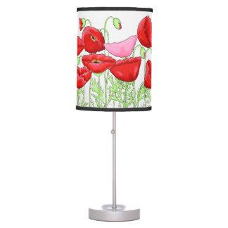 Personalizado rosado rojo del arte de las lámpara de mesilla de noche