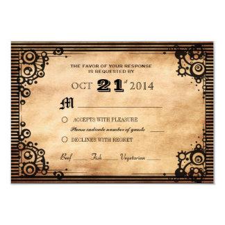 Personalizado RSVP de la apariencia vintage de Invitación 8,9 X 12,7 Cm