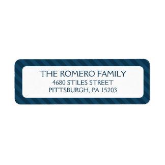 Personalizado simple de las rayas de la marina de etiqueta de remite