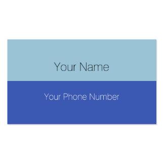 Personalizado su color de fondo del texto, de la tarjetas de visita