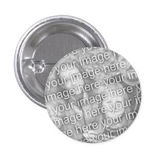 Personalizado su foto 1 plantilla del botón de 1 4 pin