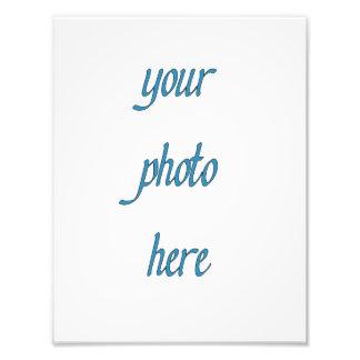 Personalizado su foto aquí fotografías