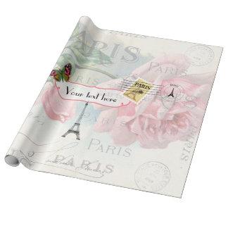 Personalizado subió rosa de la Lamentable-Moda del Papel De Regalo