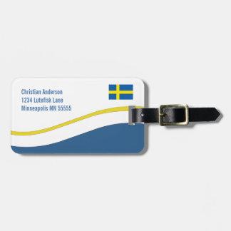 Personalizado sueco de la bandera personalizado etiquetas bolsa
