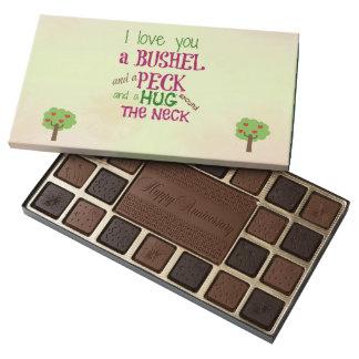 """Personalizado """"te amo"""" caja del aniversario de caja de bombones variados con 45 piezas"""