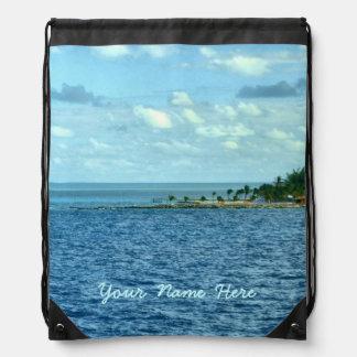 Personalizado tropical de la escena mochila