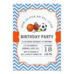 Personalizado una fiesta de cumpleaños All-star Invitacion Personal