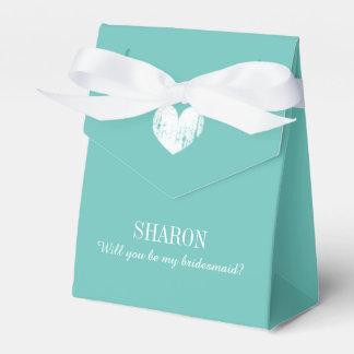 Personalizado usted será mi caja del favor de la cajas para regalos de boda