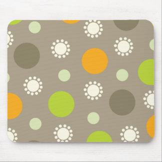 Personalizado verde anaranjado retro Mousepad del