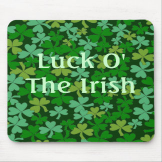Personalizado verde irlandés afortunado Mousemat d Alfombrilla De Raton