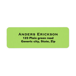 Personalizado verde simple llano del texto del neg etiquetas de remite