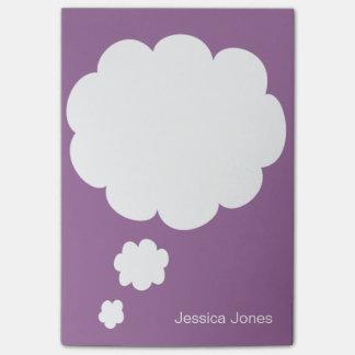 Personalizado violeta personalizado redondeado bur nota post-it