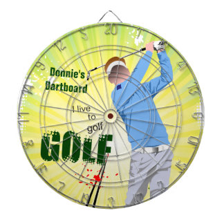 Personalizado vivo para golf el Dartboard del golf Tablero De Dardos