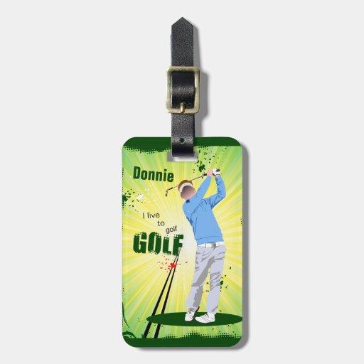 Personalizado vivo para golf la etiqueta del etiquetas maletas