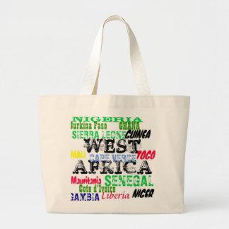 Personalizado W.Africa Apparell de Africankoko Bolsa Tela Grande