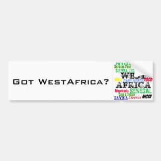 Personalizado W.Africa Apparell de Africankoko Pegatina De Parachoque