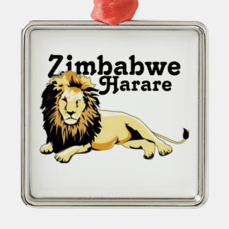 Personalizado Zimbabwe de Africankoko Adorno Navideño Cuadrado De Metal