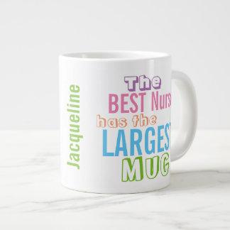 Personalizalized Funny Best NURSE Big Mug Nursing