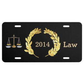 Personalizar 2014 de la ley del graduado placa de matrícula