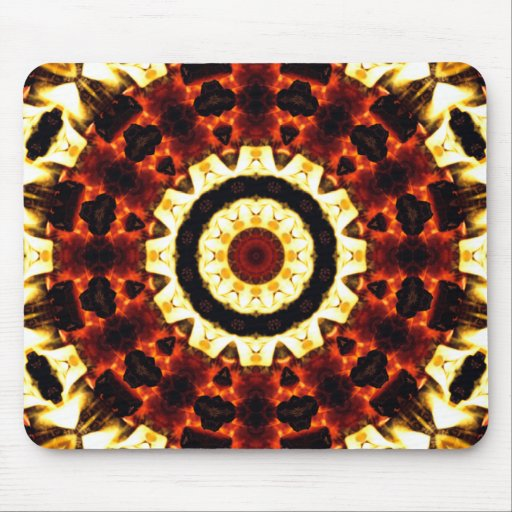 ¡Personalizar abstracto de Kscope de la lava del f Alfombrillas De Ratón
