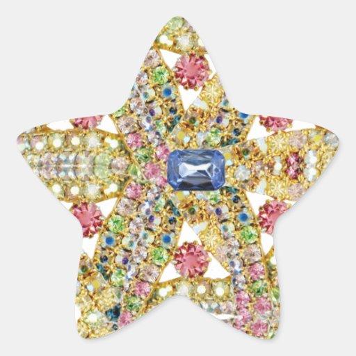 Personalizar abstracto Jeweled del diseño Calcomanías Forma De Estrellaes Personalizadas