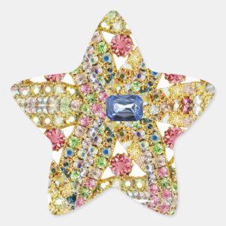 Personalizar abstracto Jeweled del diseño Pegatina En Forma De Estrella
