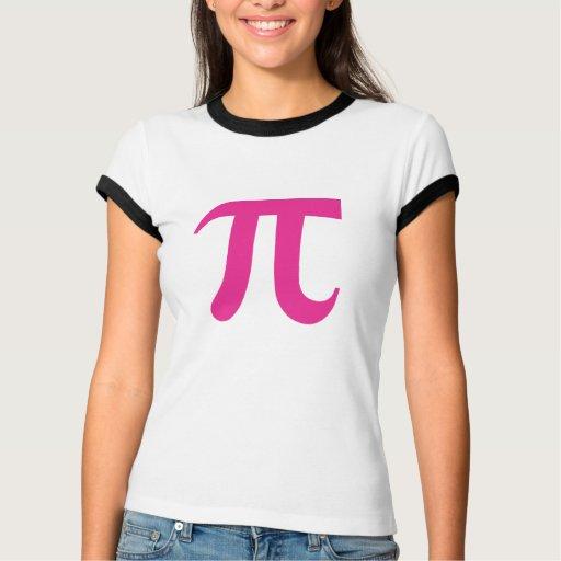 Personalizar adaptable rosado Mathletes del pi Tshirts